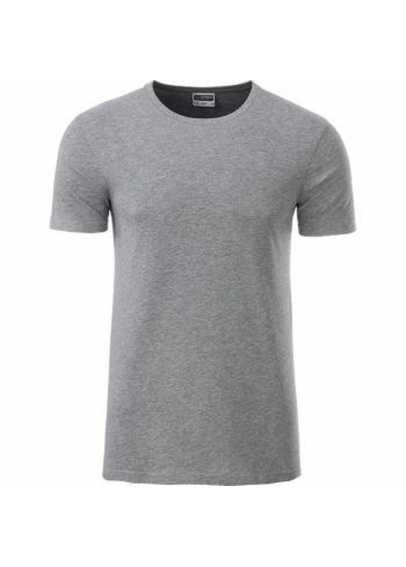 Tee-shirt bio Homme gris chiné foncé