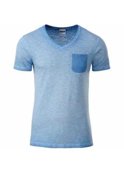 Tee-shirt bio Homme Bleu