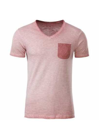 Tee-shirt pocket bio Homme Rose pastel