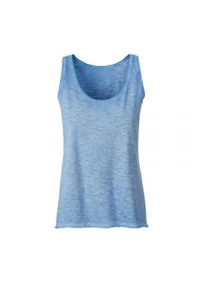 Tee-shirt bio Femme bleu