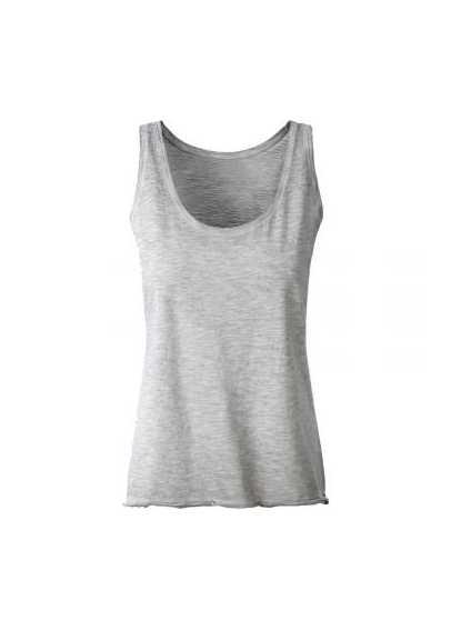 Tee-shirt bio Femme gris clair.