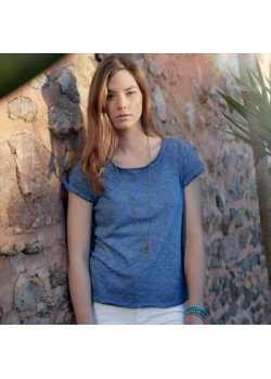 Tee-shirt bio Femme denim