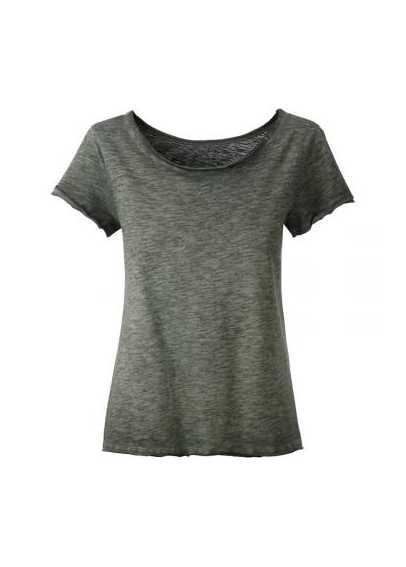 Tee-shirt bio Femme oliviacé.