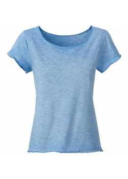 Tee-shirt bio Femme bleu horizon