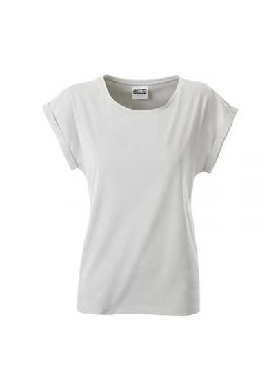 Tee-shirt bio Femme gris pastel