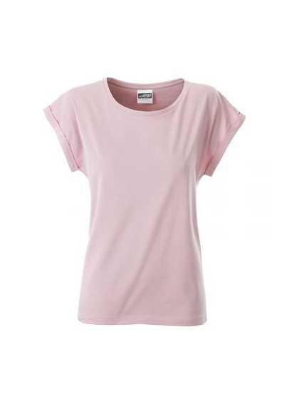 Tee-shirt bio Femme pastel rose