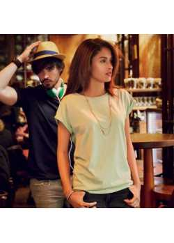 Tee-shirt bio Femme pastel vert