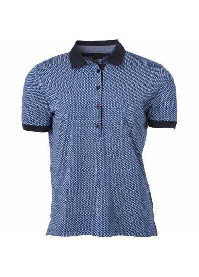 Polo à carreaux Homme Bleu/Blanc
