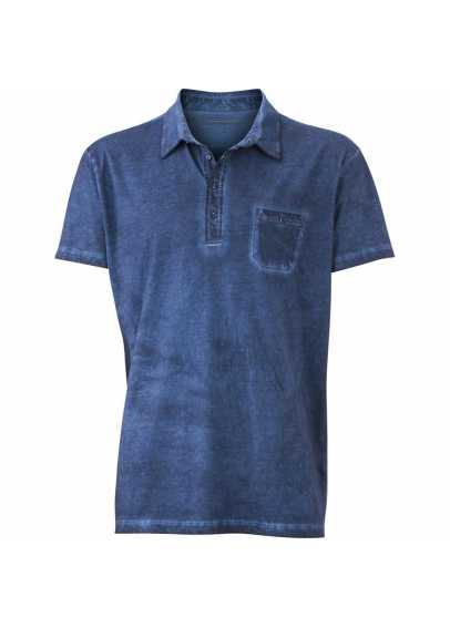 Polo Homme Denim style Rouge