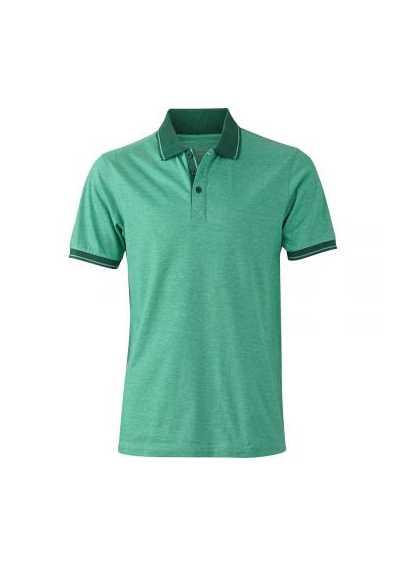 Polo chiné homme Vert chiné / vert