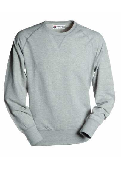 Sweat-shirt homme, encolure ras du cou, manches